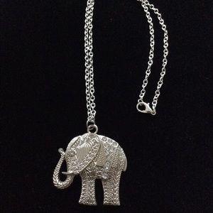 Rhinestone Elephant Necklace